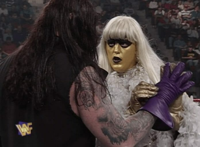 Goldust face-to-face with The Undertaker
