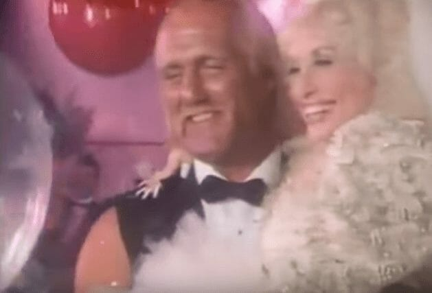 Wrestler cameos in music videos - Hulk Hogan as 'Starlight Starbright' and Dolly Parton's wedding scene in the music video for 'Headlock on My Heart'