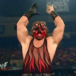 In July 2001, during the midst of the company-wide WCW/ECW invasion angle, slight modifications were made to Kane's costume design, noticeable on the red flame area.