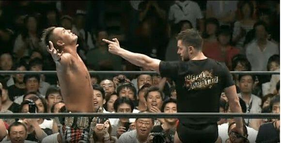 Bullet Club member Prince Devitt challenges Okada for the IWGP Heavyweight Championship
