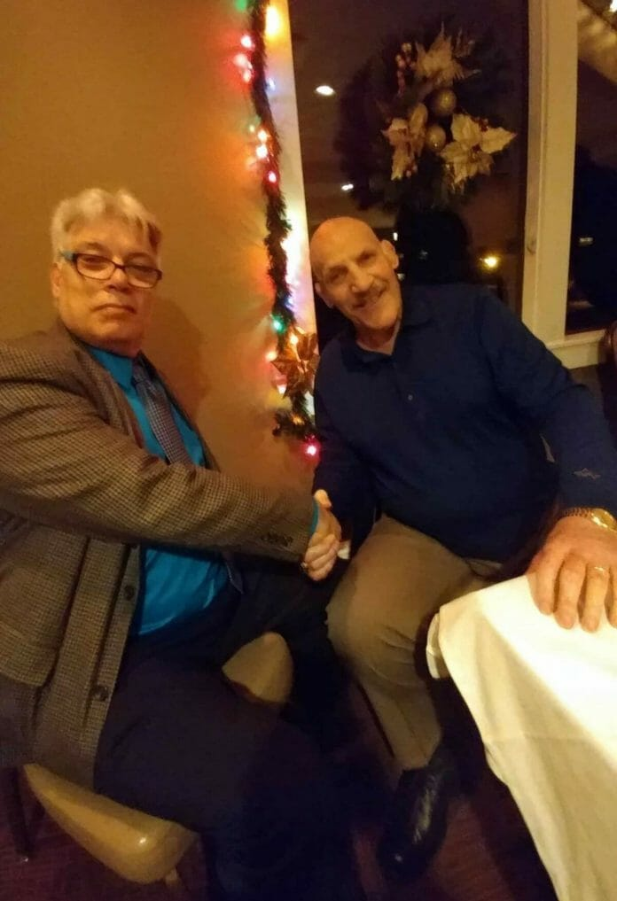 Bruno Sammartino's last Christmas, pictured with ProWrestlingStories.com writer Benny Scala