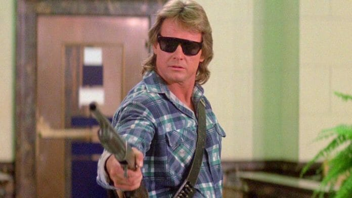 Rowdy Roddy Piper in the 1988 John Carpenter classic They Live.