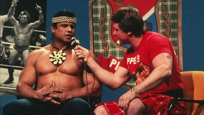 Legendary Piper's Pit segment in 1984, just before Roddy Piper hit Jimmy