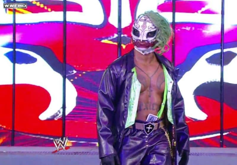 Rey Mysterio pays homage to The Joker at WrestleMania 25.
