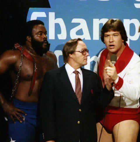 Gordon Solie interviews The Junkyard Dog, Ted DiBiase, and Robert Fuller on Georgia Championship Wrestling