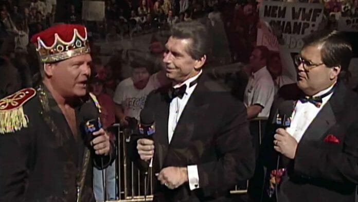 Jerry Lawler, Vince McMahon, and Good ol' JR at WWF In Your House 4 on October 22, 1995.