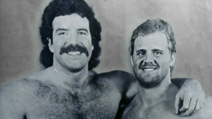 Scott Hall and Curt Hennig (Razor Ramon and Mr. Perfect) were put together as a tag team when Hall was green to the business and