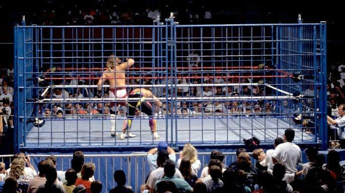 Shawn Michaels faced off against former tag team partner Marty Jannetty with a score to settle in 1993 inside a blue steel cage.