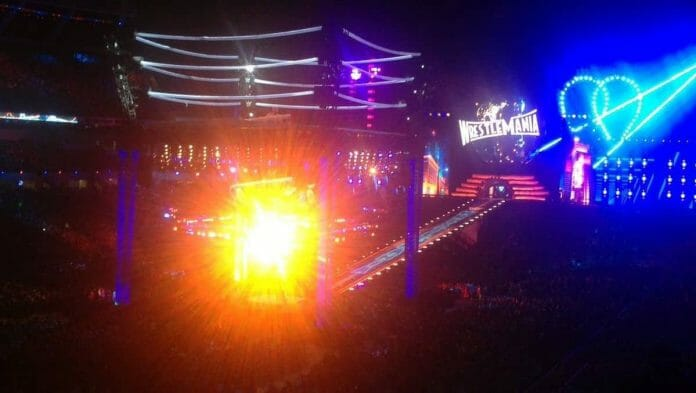 Blinding lights such as the one pictured here, taken by a fan who spent $575 for his ticket, made it almost impossible to enjoy WrestleMania 35 for many fans in attendance. Yet complaints have fallen on deaf ears by WWE corporate.