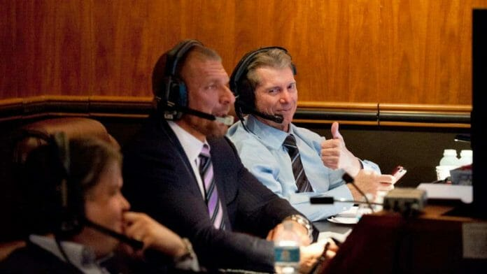 Dark Secrets of WWE - Triple H and Vince McMahon at Gorilla Position