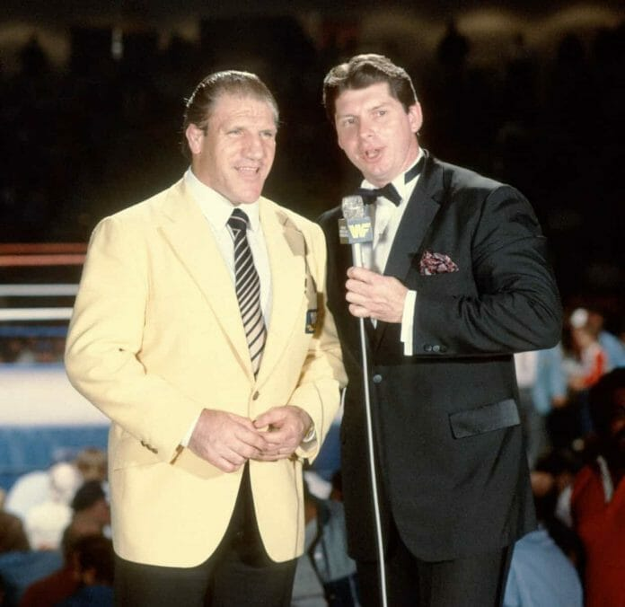 Bruno Sammartino and Vince McMahon used to share the stick as commentators for the then-WWF in the early 1980s, but a heated feud between the two of them kept Sammartino away from WWE for over 25 years.