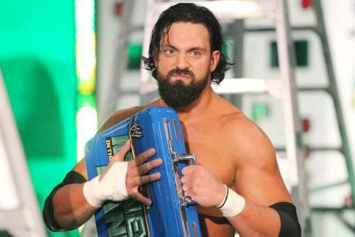 Damien Sandow after winning the Money in the Bank briefcase, July 14, 2013