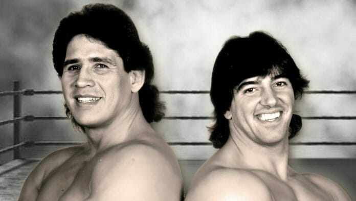 Strike Force: Tito Santana and Rick Martel.