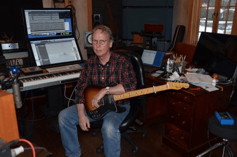 Jim Johnston in his studio