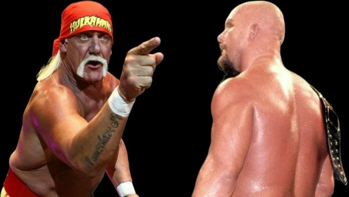 Hulk Hogan and Steve Austin never had a one-on-one match despite Vince McMahon planning for it to happen. Here, in their own words, both men give their reasons why it never happened. [Photo design: JP Zarka of ProWrestlingStories.com]