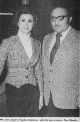 Ann Gunkel and her booker Tom Renesto (Former Assassin #2)