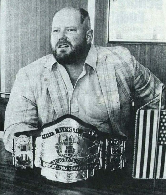 Leon White with his new haircut and the start of what would become Big Van Vader.