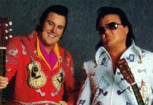 The tag team of Rhythm and Blues - Honky Tonk Man and Greg Valentine