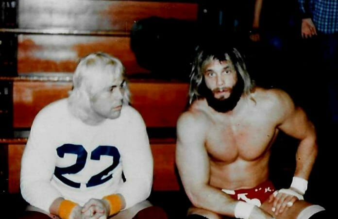 Rip Rogers and Randy Savage during the time with ICW
