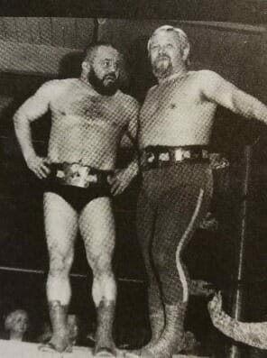 Tony Borne and Lonnie Mayne as Pacific Northwest Tag Team champs