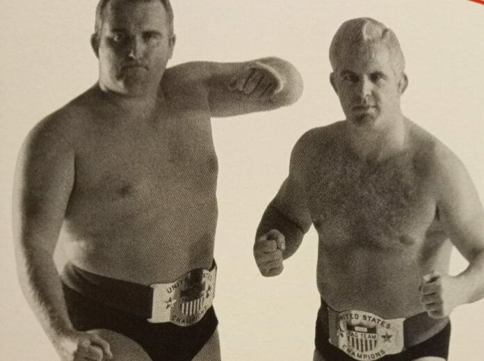 Four-time holders of the Northeast version of the NWA United States Tag Team Championship, 'The Graham Brothers' Eddie and Jerry Graham