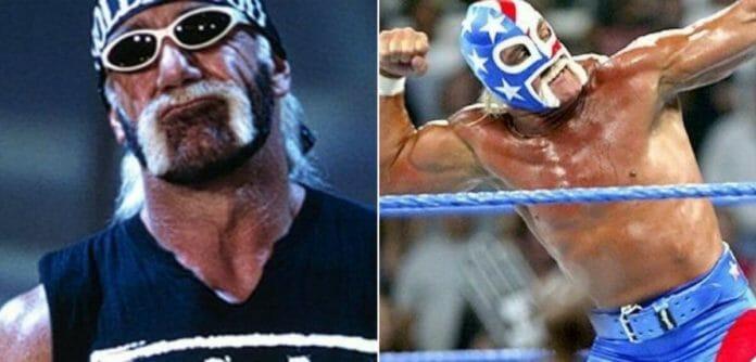 Hollywood Hogan and Mr. America, two personas of Hulk Hogan.