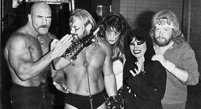 Kevin Sullivan and his Army of Darkness - 'Superstar' Billy Graham, The Fallen Angel, Kevin Sullivan, The Lock, and Sir Oliver Humperdink