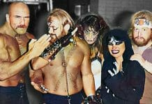 """Kevin Sullivan and his Army of Darkness - """"Superstar"""" Billy Graham, The Fallen Angel (Nancy Benoit), Kevin Sullivan, The Lock (Winona Littleheart), and Sir Oliver Humperdink. Before there was D-Generation X, the nWo, and even The Four Horsemen, there was Kevin Sullivan and His Army of Darkness who shook professional wrestling from its comfort zone forever."""