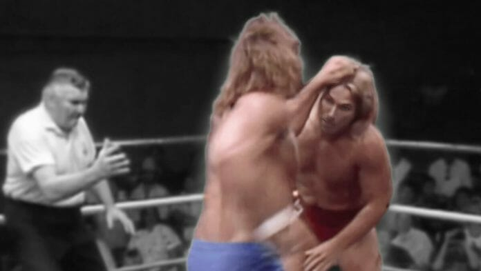 Kerry Von Erich laying it in on Terry Taylor at a May 21st, 1988 WCCW taping.