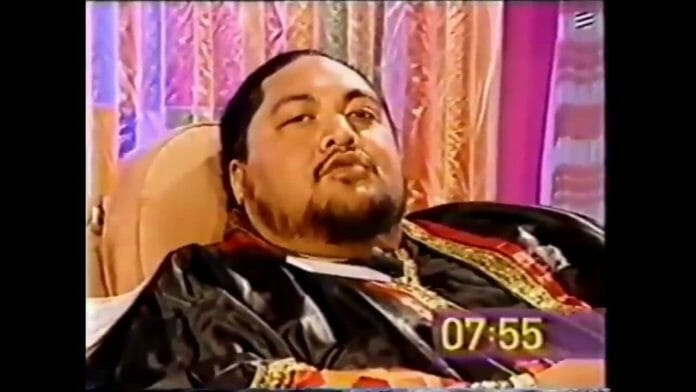 "Yokozuna on the UK-based program ""Big Breakfast"" six days before his death on October 17th, 2000."