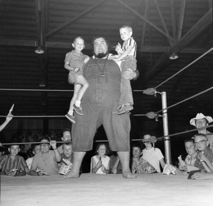 Haystacks Calhoun's looks, character, and personality were his selling points, not his skills in the ring.
