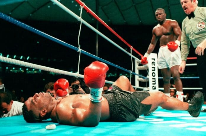 Mike Tyson's world came crashing down when he was defeated by the 42-1 underdog James
