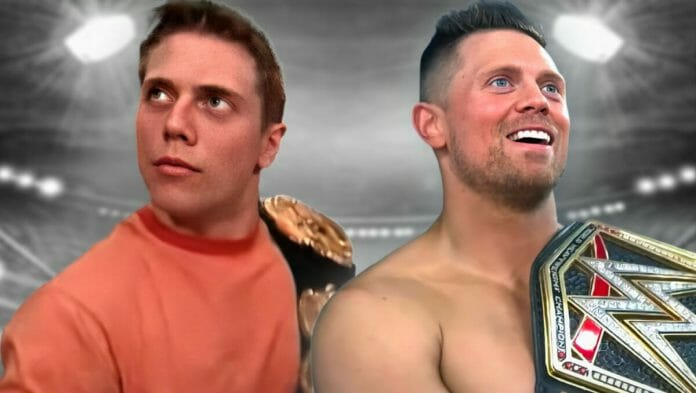 The Miz, seen here on the left on MTV Real World in 2001, and on the right as WWE Champion in 2021, has carved out a place for himself in both worlds, solidifying the fluid connection between reality TV and wrestling.