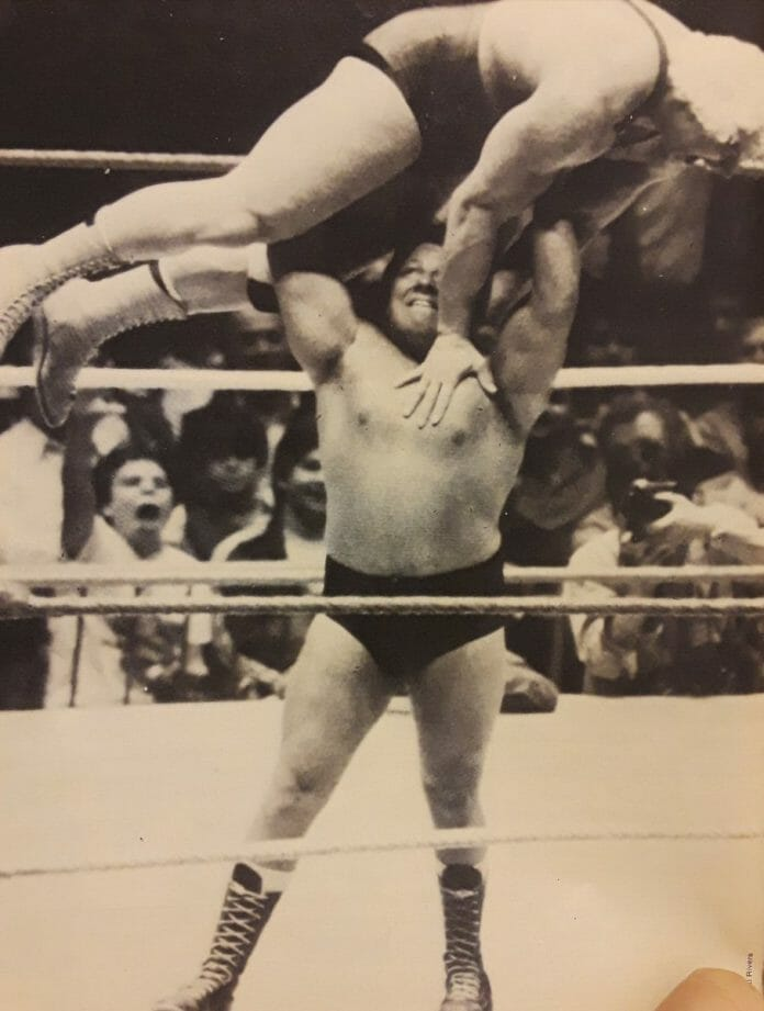 David Sammartino did have his moments in the WWF as seen here lifting Ken Patera, but he would eventually get frustrated over how he was being booked.