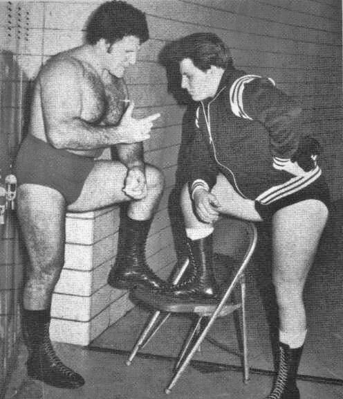 Bruno Sammartino mentoring his son David in 1981. Oh to be a fly on the wall!