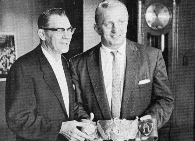 Fred Kohler with Nature Boy Buddy Rogers.