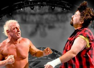 Ric Flair throws a few jabs at Mick Foley at WWE SummerSlam 2006.