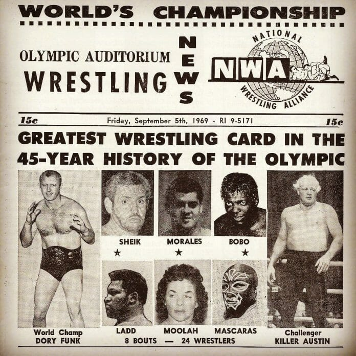 When NWA World champion Dory Funk came to Los Angeles, CA.,
