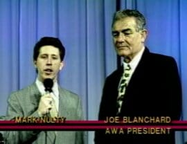 Joe Blanchard as AWA president.