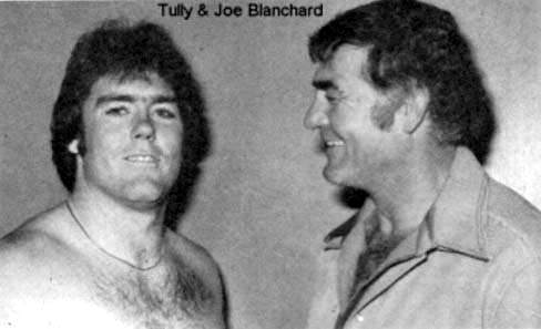 Tully Blanchard with his father, wrestling promotor Joe Blanchard.