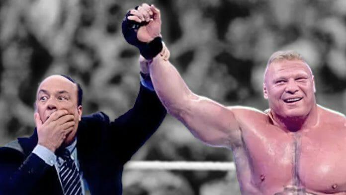 'The Advocate' Paul Heyman and 'The Beast' Brock Lesnar