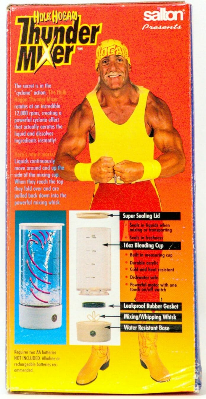 Hulk Hogan Thunder Mixer - a far cry from the Foreman Grill when it came to revenue generated.