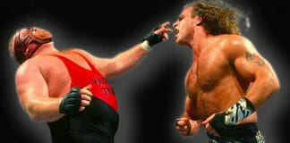 Shawn Michaels and Vader battling it out at SummerSlam '96.
