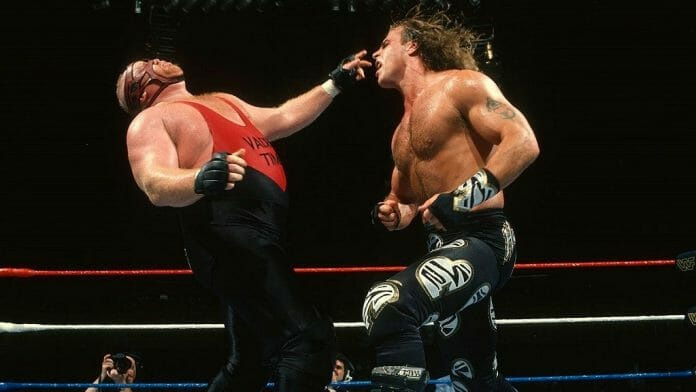 Shawn Michaels and Vader battle it out at SummerSlam '96.