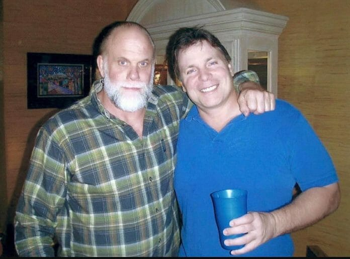 Randy Savage and Lanny Poffo, Christmas 2010. This would be Randy's final Christmas.