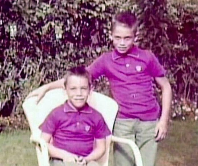 A picture of Randy (right) and me (left) when we were younger. My brother and I didn't argue much over the years, but there was this one time!