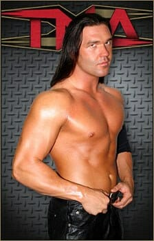 Frankie Kazarian with hair, channeling his inner Antonio Banderas!