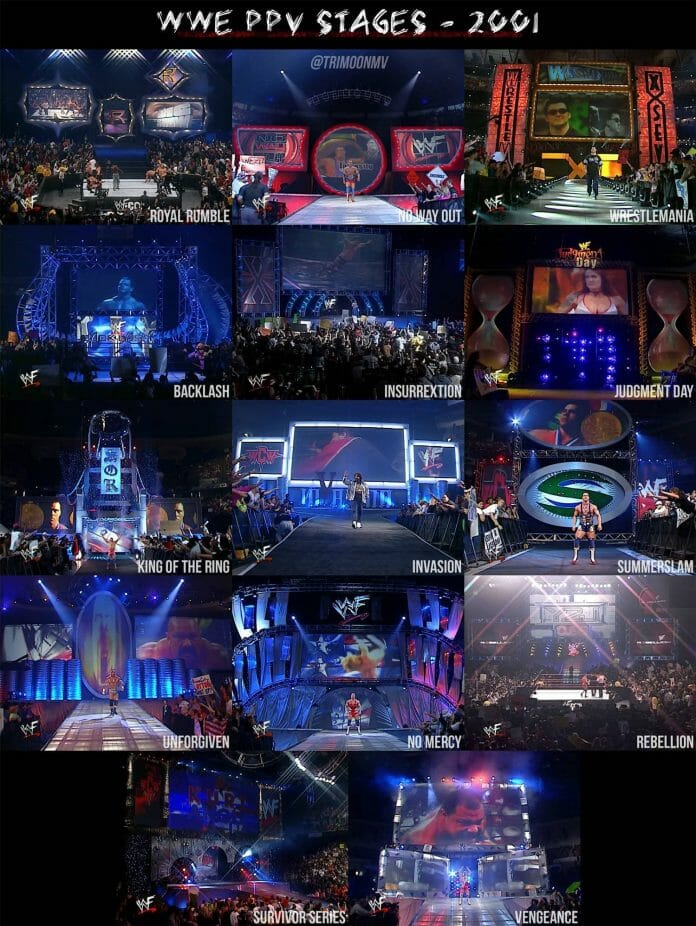When Every WWE Pay-Per-View Had a Unique Stage Design | Nostalgic Wrestling Photos