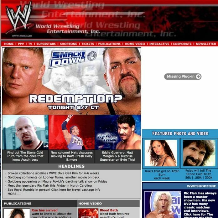 WWE.com in the Early 2000s | Nostalgic Wrestling Photos