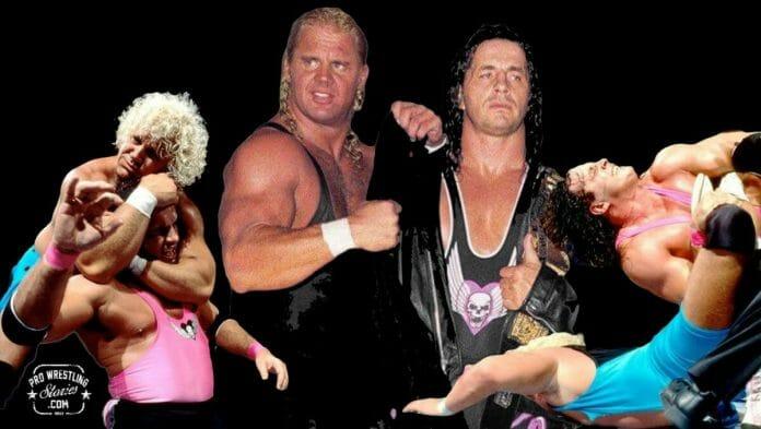 Bret Hart and Mr. Perfect | Revolutionists of Wrestling in the '90s [Photo design: JP Zarka of ProWrestlingStories.com]